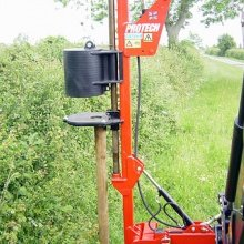 Tractor Read Mounted Post Driver